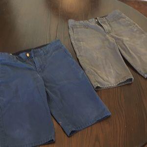 Two pair boys Volcom shorts